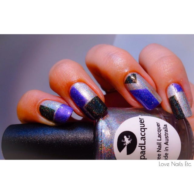 Lilypad lacquer good as gold _ youve got my attention _ Wild at heart _ Nail art striping tape _ love nails etc3