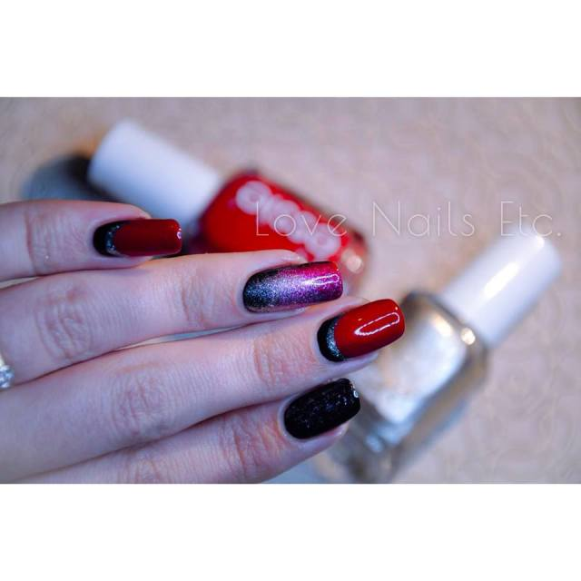 Ruffian Essie Red and Black _ love nails etc3