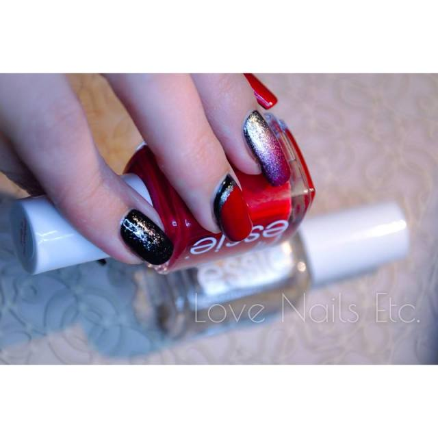 Ruffian Essie Red and Black _ love nails etc4