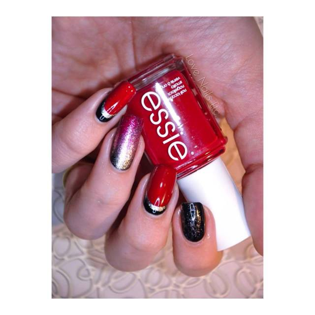 Ruffian Essie Red and Black _ love nails etc5