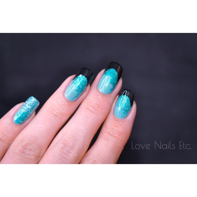 Black French _ love nails etc6
