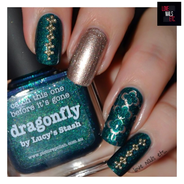 Dragonfly and beads_love nails etc13