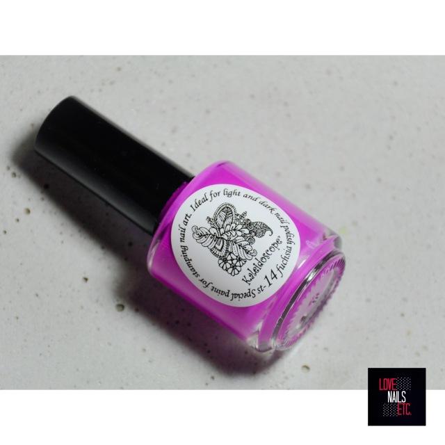 Kaleidoscope stamping polish fuchsia