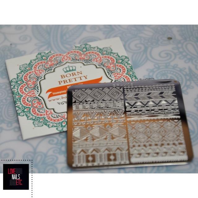 Born Pretty Store Stamping Plate BP-X05 Ethnic design2