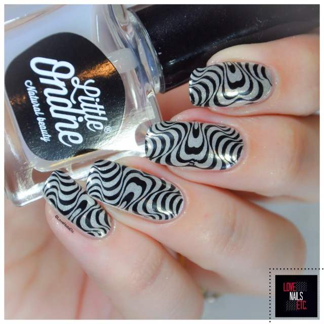 Chrome Nails _ Modern Nails Art Stamping Water marble8