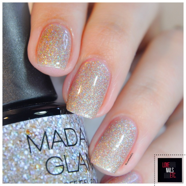 Madam Glam Holo Party swatch & stamping4