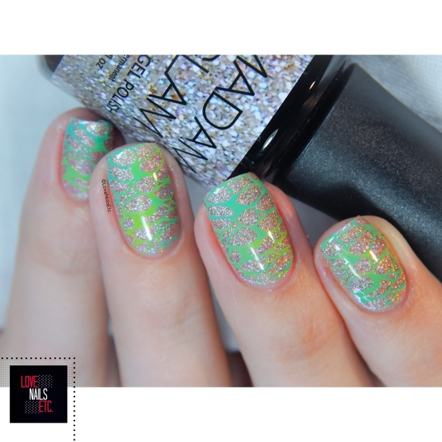 Madam Glam Holo Party swatch & stamping8