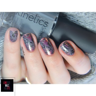 Nail Art Stamping Marble effect _ Nail Art Gradient sponge _ Lina Nail Art Supplies Make your Mark 04 _ Kinetics winter 2017 Wrap it up _ Love Nails Etc3