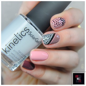 #StampingMaster - #nailart #colorblocknails #lovenailsetc Nail Art Color Block #Kineticsnails Nude different _ 9